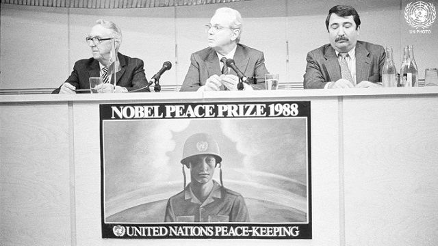 UN Peacekeeping Forces Receive Nobel Peace Prize