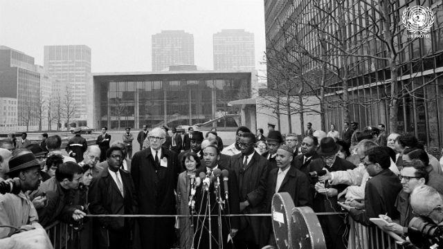 Martin Luther King Jr. at Anti-Vietnam War Demonstration