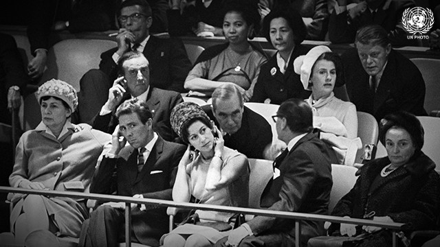 Princess Margaret and Lord Snowdon Visit UN Headquarters