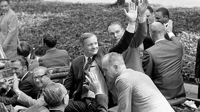 US Apollo 11 Astronauts Visit UN Headquarters