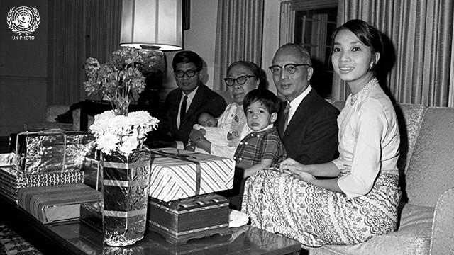 Secretary-General U Thant and Family