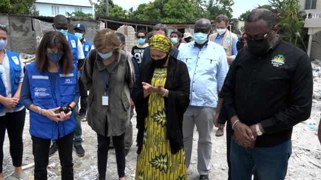 HAITI EARTHQUAKE  DSG MOHAMMED VISIT