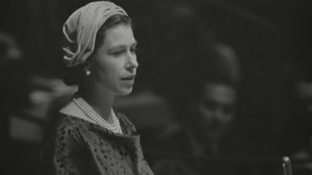 Queen Elizabeth II of England at UN Headquarters- Part 3