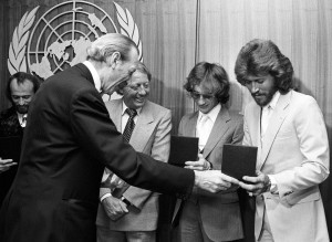 Press Conference by the Bee Gees