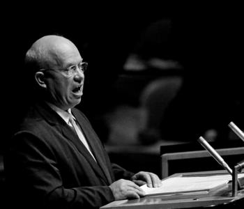 Nikita Khrushchev Addressing the General Assembly