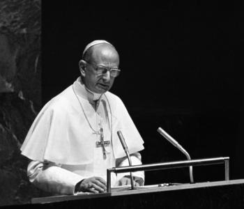 Pope Paul VI Addressing the General Assembly