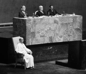UN Radio Report on Pope Paul VI's Visit to the UN