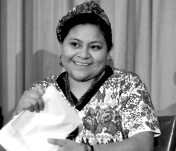 Rigoberta Menchu Press Conference