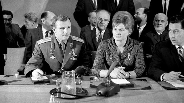 USSR Cosmonauts Yuri Gagarin and Valentina Tereshkova
