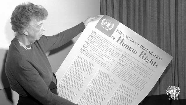 Declaration of Human Rights by Eleanor Roosevelt