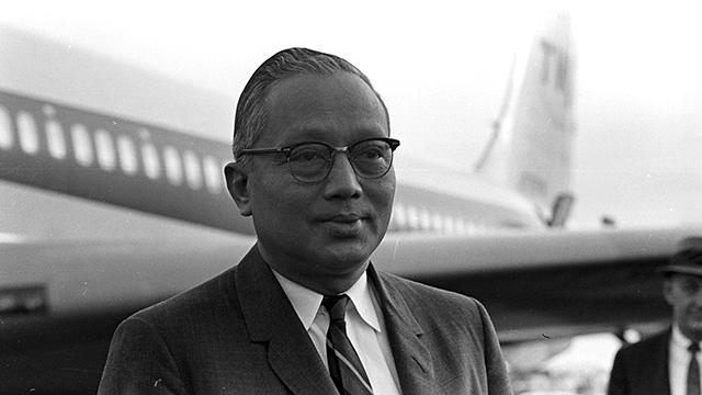 UN Secretary-General U Thant Speaks to Press Upon Arrival at JFK