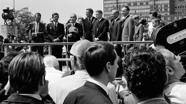 American Astronauts Visit United Nations Headquarters