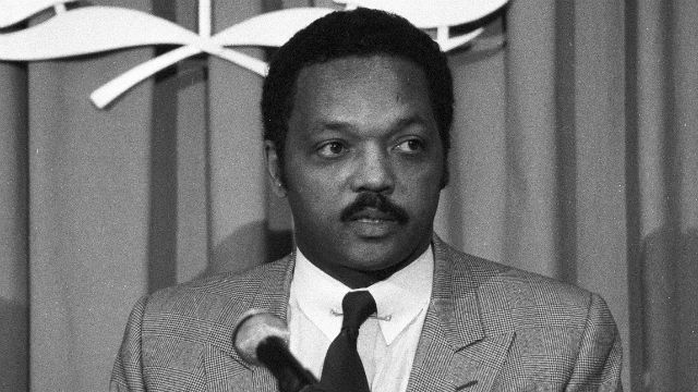Jesse Jackson Briefs Press at UN Headquarters